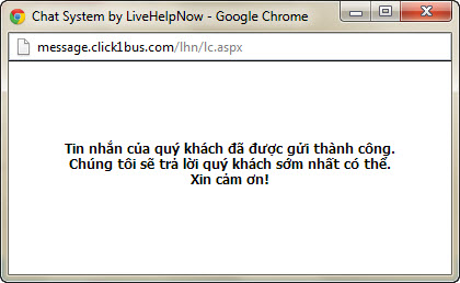 Thông báo gửi email thành công